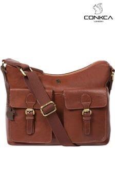 Conkca Nancie Leather Shoulder Bag