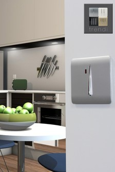 Trendiswitch 20 Amp Neon Silver Light Switch