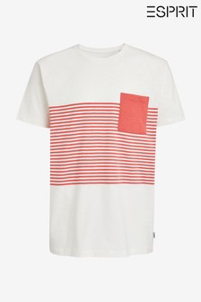 Esprit Mens T-Shirt With Front Pocket