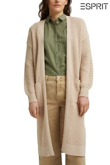 Esprit Womens Long Knit Cardigan