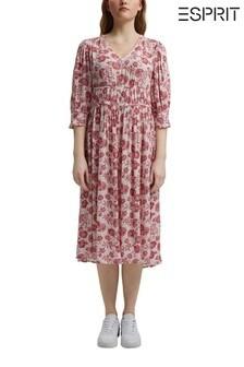 Esprit Womens Floral Dress