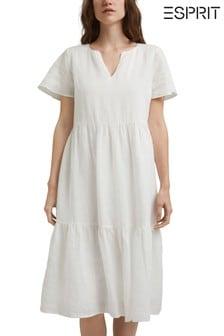Esprit Womens Casual Linen Dress