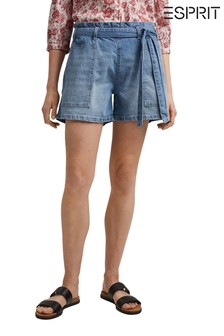 Esprit Womens Denim Belted Shorts