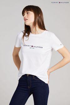 Tommy Hilfiger White Heritage Logo T-Shirt
