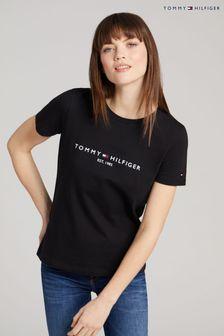 Tommy Hilfiger Black Heritage Logo T-Shirt