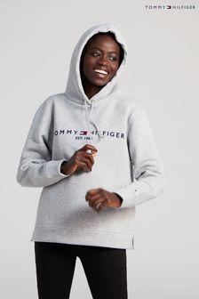 Tommy Hilfiger Grey Heritage Logo Hoodie