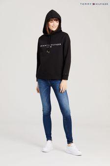 Tommy Hilfiger Black Heritage Logo Hoodie