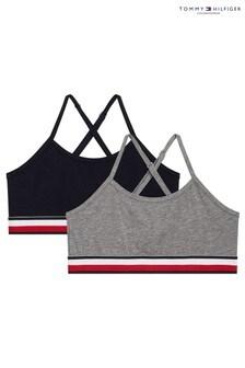 Tommy Hilfiger Grey Modern Stripe Bralettes 2 Pack