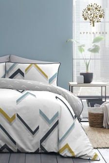 Appletree Fractured Lines Duvet Cover and Pillowcase Set