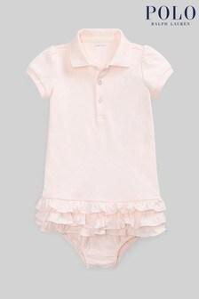 Ralph Lauren Light Pink Logo Polo Dress