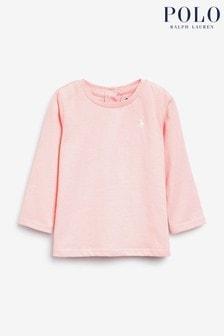 Ralph Lauren Pink Logo Long Sleeve T-shirt