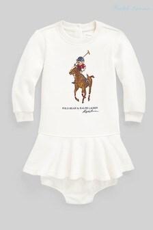 Ralph Lauren White Pony Dress