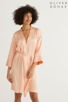 Oliver Bonas Embroidered Bird Robe Dressing Gown