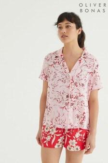 Oliver Bonas Florence Mis-Matched Pink Pyjama Set