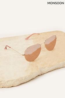 Monsoon Gold Alexis Aviator Sunglasses