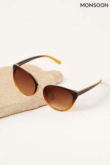Monsoon Brown Perla Preppy Sunglasses