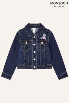 Monsoon Blue Butterfly Denim Jacket