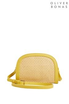 Oliver Bonas Cindy Curved Top Yellow Cross Body Bag