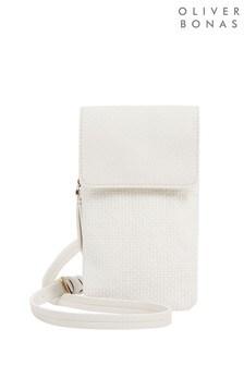 Oliver Bonas Macenzie Weave White Smartphone Cross Body Bag