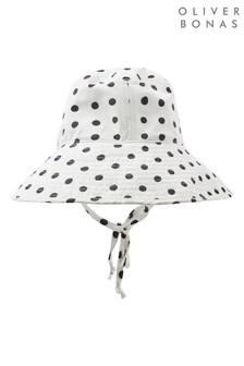 Oliver Bonas Spotty Fabric Sun Hat