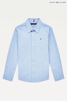 Tommy Hilfiger Blue Stretch Oxford Shirt