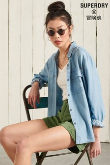 Superdry Long Sleeved Textured Shirt
