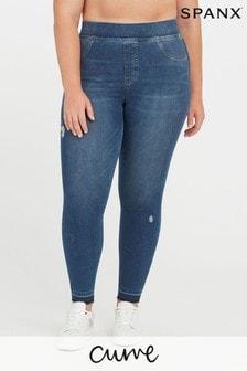 SPANX Curve Distressed Skinny Jeans