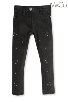 M&Co Grey Star Embellished Jeans