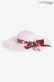 HotSquash Pink Scarf Detail Women's Sun Hat