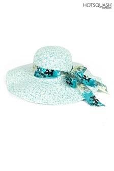 HotSquash Blue Scarf Detail Women's Sun Hat