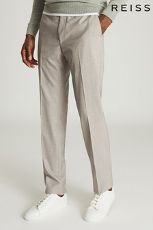 Reiss Grey Boyce Slim Fit Tailored Trousers