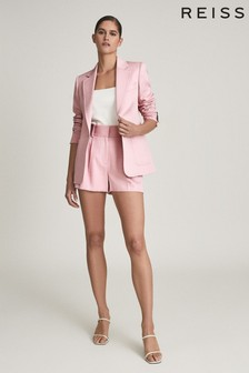 Reiss Pink Ember Tailored Blazer