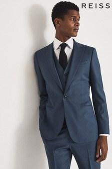 Reiss Blue Extra Wool Slim Fit Blazer