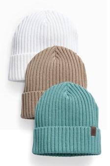 Beanie Hats 3 Pack (1-16yrs)