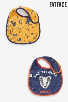 FatFace Baby Crew Printed Bibs 2 Pack