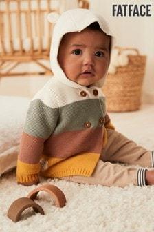 FatFace Baby Crew Colourblock Hooded Cardigan