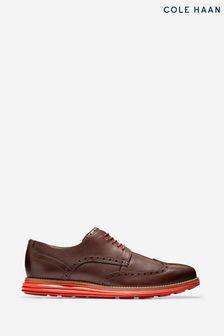 Cole Haan Brown Originalgrand Short Wingtip Oxford Shoes