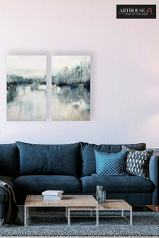 Set of 2 Arthouse Abstract Canvases