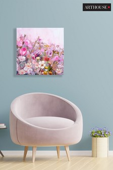 Arthouse Pink Meadow Canvas