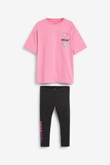 T-Shirt And Leggings Set (3-16yrs)