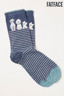 FatFace Stripe Dog Socks