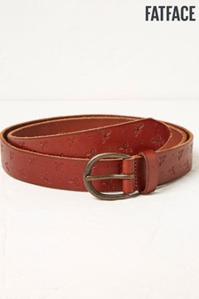 FatFace Bee Embossed Leather Belt