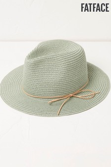 FatFace Straw Fedora Hat