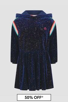 Billie Blush Girls Navy Dress