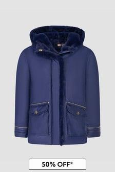 Billie Blush Girls Navy Jacket
