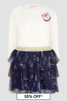 Billie Blush Girls Cream Dress