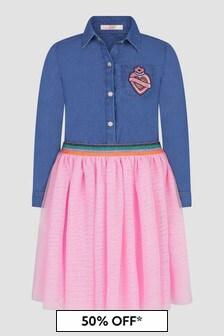 Billie Blush Girls Blue Dress