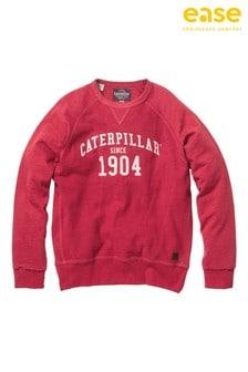 CAT Red 1904 Crew Neck Sweatshirt