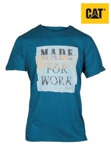 CAT Blue Tabloid T-Shirt