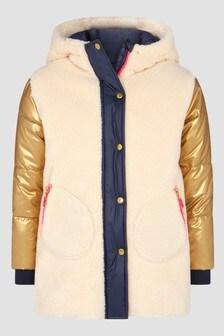 Billie Blush Girls Beige Coat